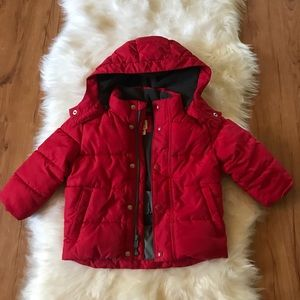 GAP BABY RED PUFFER WINTER JACKET